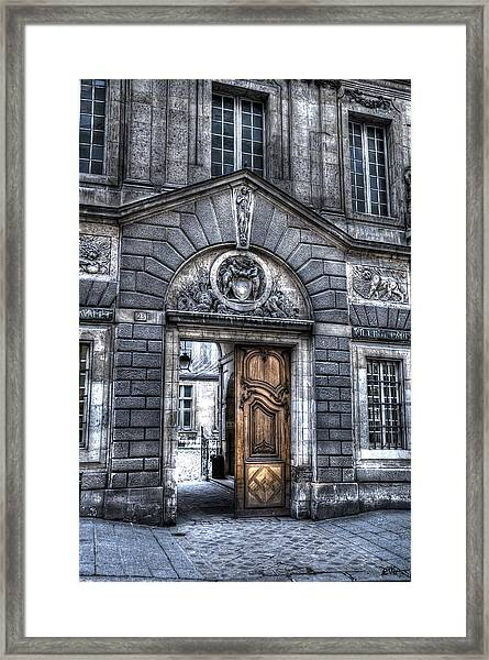 The Wooden Door Framed Print