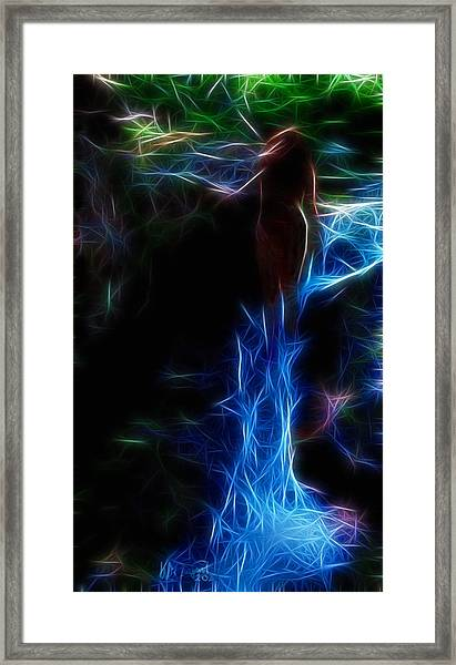 The Woods Are Lovely Dark And Deep Framed Print