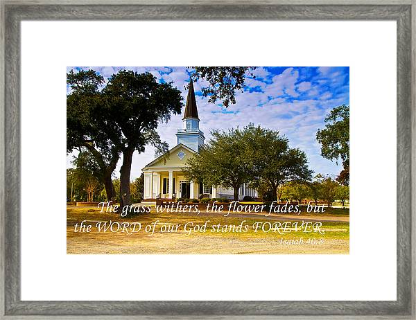 The Word Of God Stands Framed Print