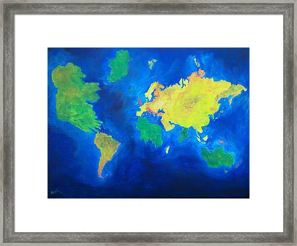 The World Atlas According To The Irish Framed Print