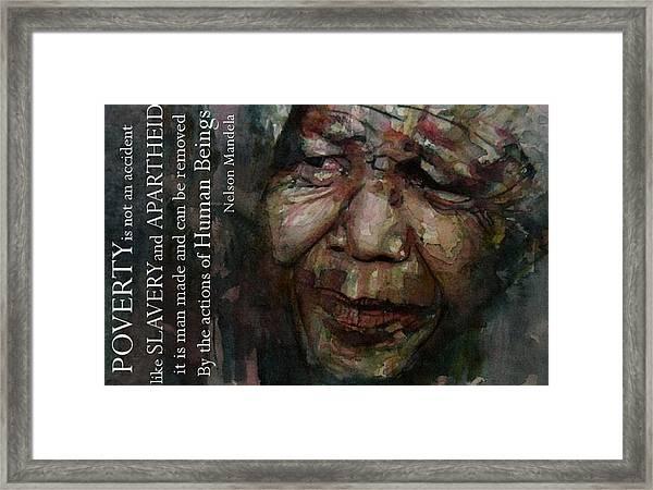 The World Holds It's Breathe Framed Print
