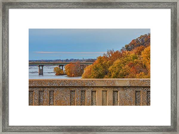 Framed Print featuring the photograph The Wright's Ferry Bridge In Fall by Beth Sawickie