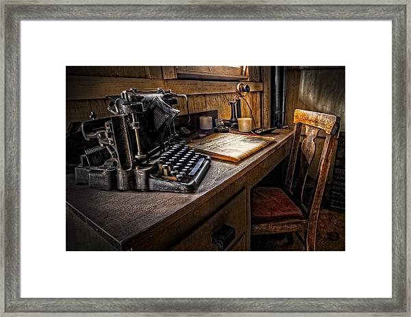 The Writer's Desk Framed Print