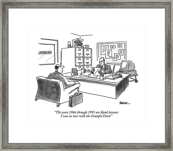 The Years 1966 Through 1995 Are Blank Because Framed Print