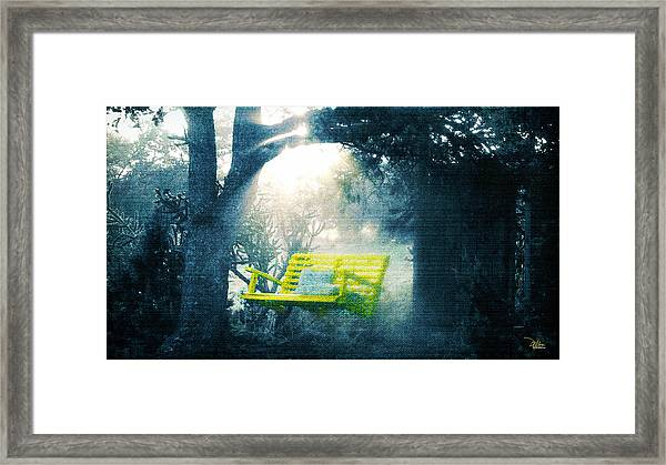The Yellow Swing Framed Print