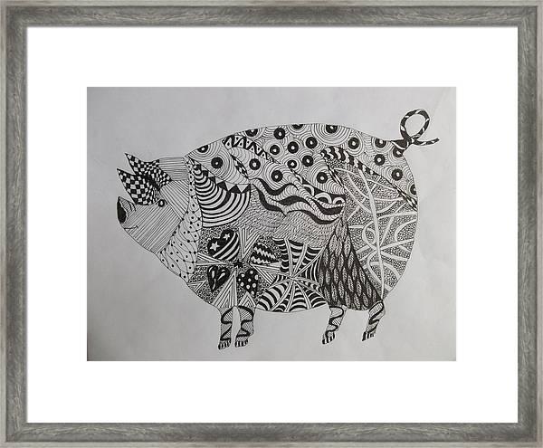The Zen Pig Framed Print