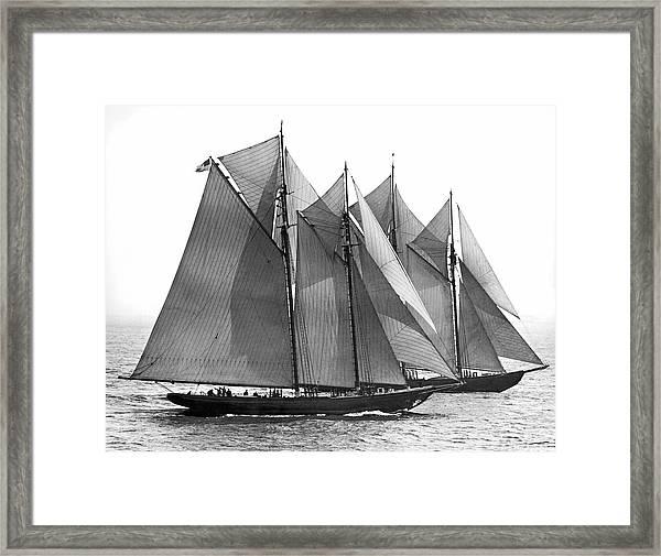 Thebaud Passes Bluenose Framed Print