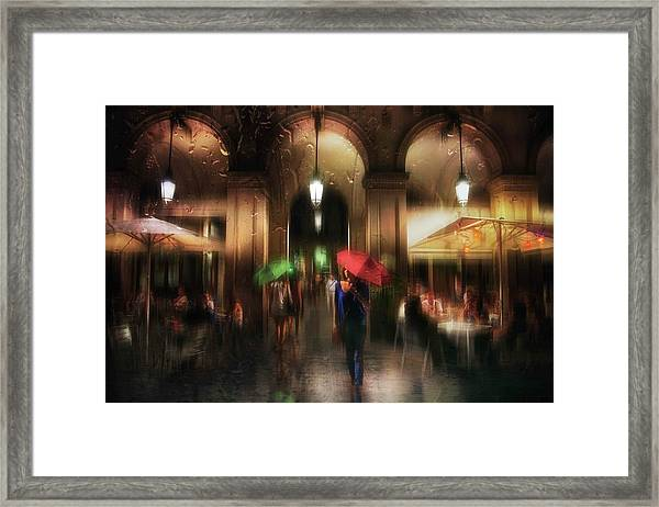There Is Something In The Rain... Framed Print
