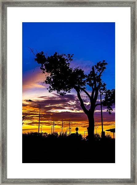 There Is Something Magical About The Sky Framed Print