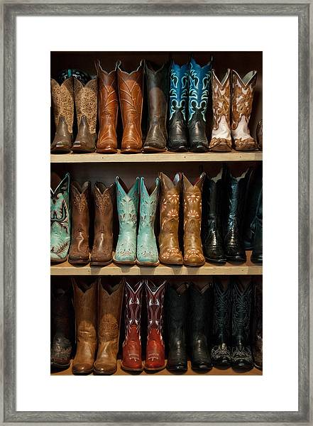 These Boots Were Made For Walking Framed Print