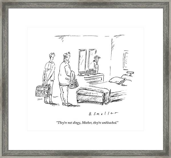 They're Not Dingy Framed Print