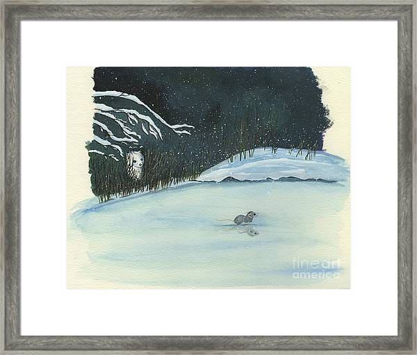 Thin Ice Framed Print