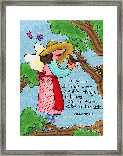 Things Visible And Invisible Framed Print