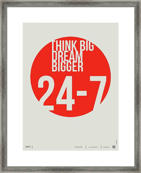 Think Big Dream Bigger Poster Framed Print