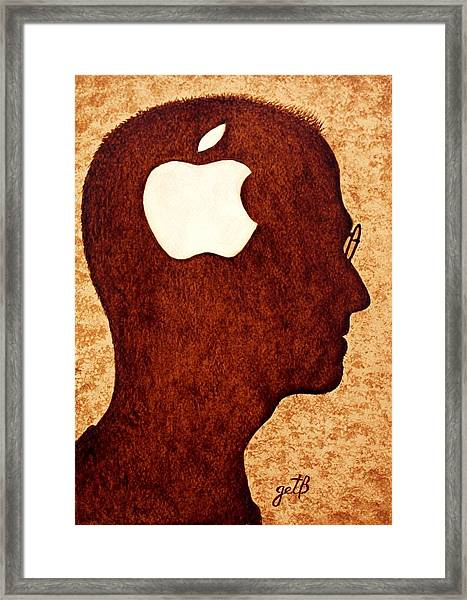 Think Different Tribute To Steve Jobs Framed Print