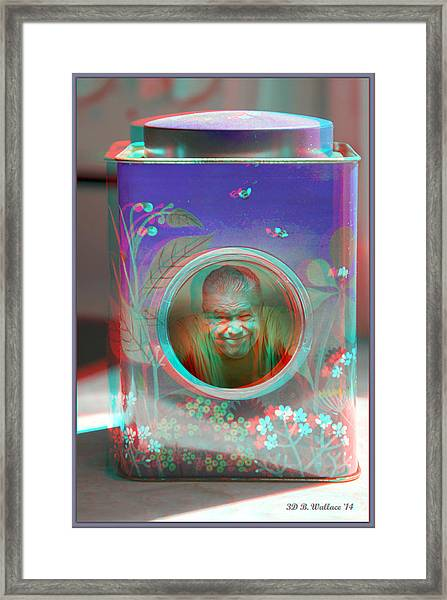 Thinking Inside The Box - Red/cyan Filtered 3d Glasses Required Framed Print