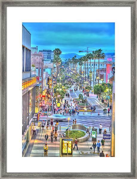Third Street Promenade Framed Print