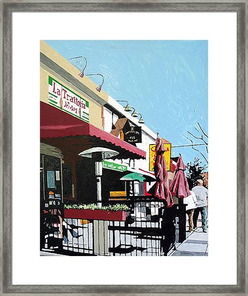 Thirty Sixth And J Framed Print by Paul Guyer