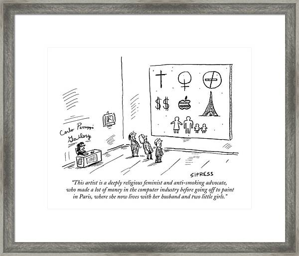 This Artist Is A Deeply Religious Feminist Framed Print