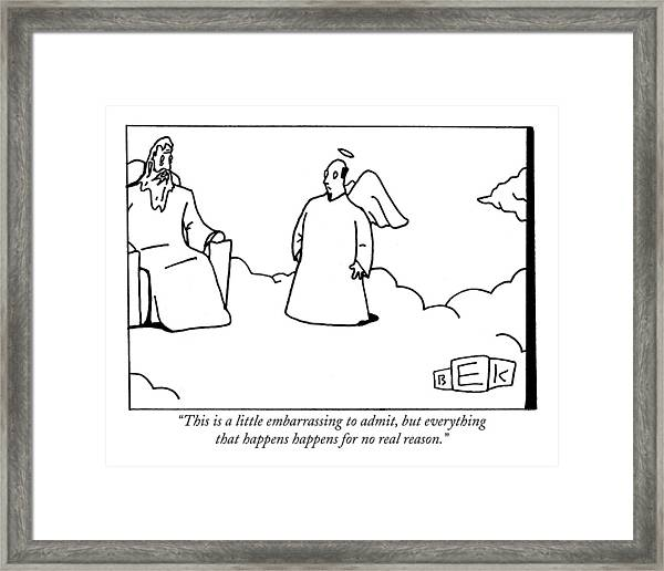 This Is A Little Embarrassing To Admit Framed Print