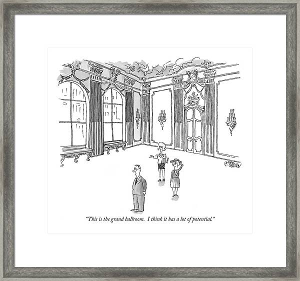 This Is The Grand Ballroom.  I Think It Has A Lot Framed Print