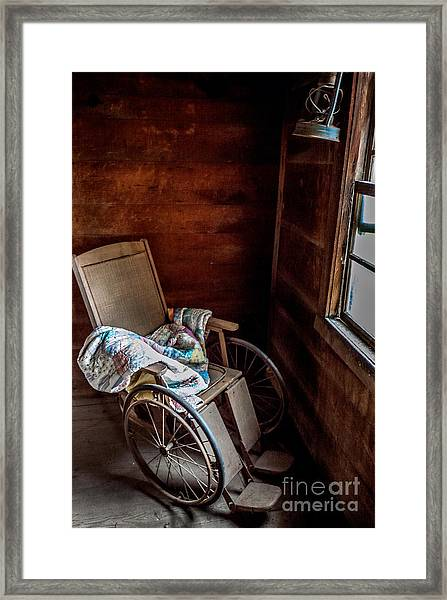 Wheelchair With A View Framed Print