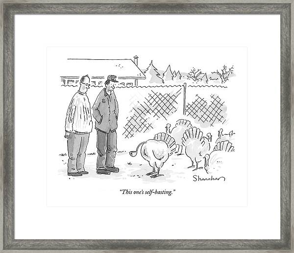 This One's Self-basting Framed Print