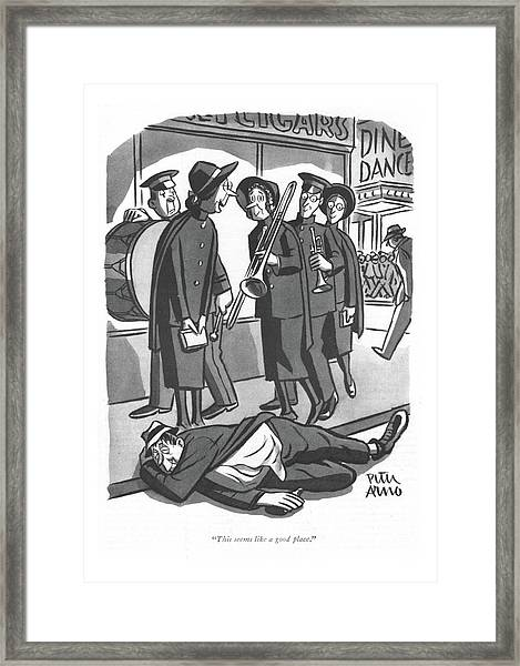 This Seems Like A Good Place Framed Print