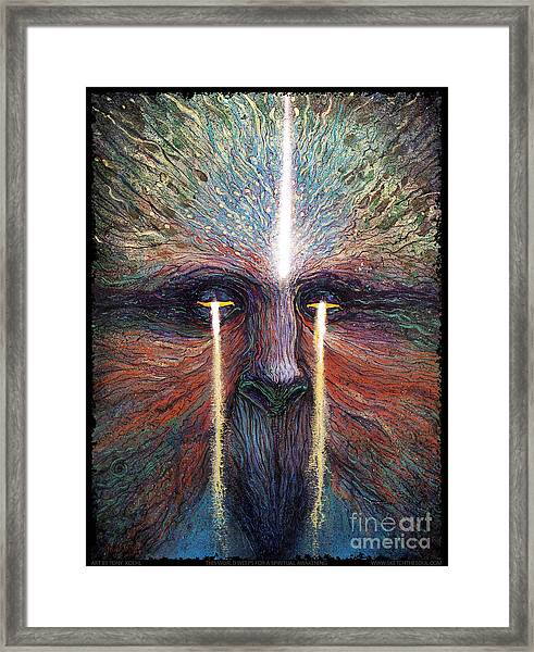 This World Weeps For A Spiritual Awakening Framed Print