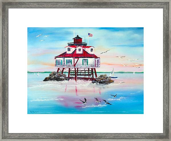 Thomas Point Lighthouse Framed Print