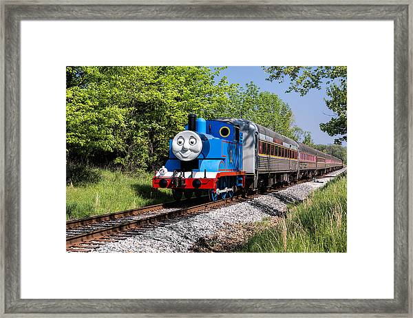 Thomas Visits The Cvnp Framed Print