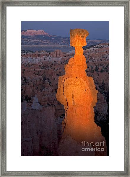 Thors Hammer Sunset Point Bryce Canyon National Park Framed Print