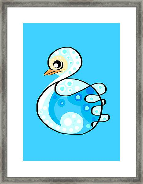 Thoughts And Colors Series Duckling Framed Print