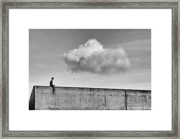 Thoughts In The Cloud Framed Print