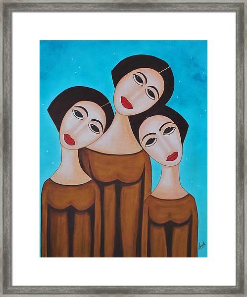 Three Angels Framed Print