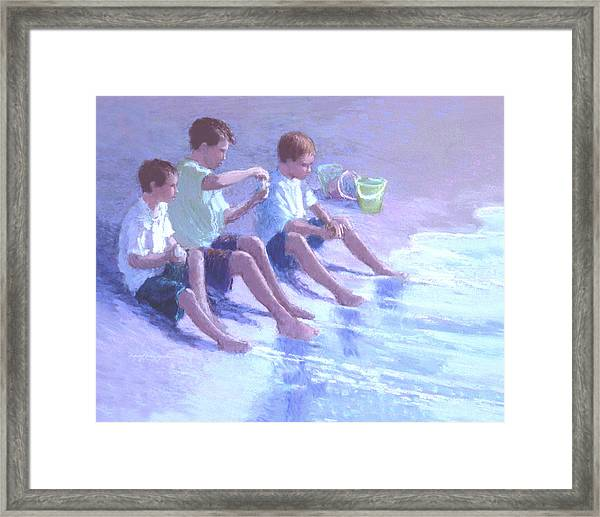Three Beach Boys Framed Print
