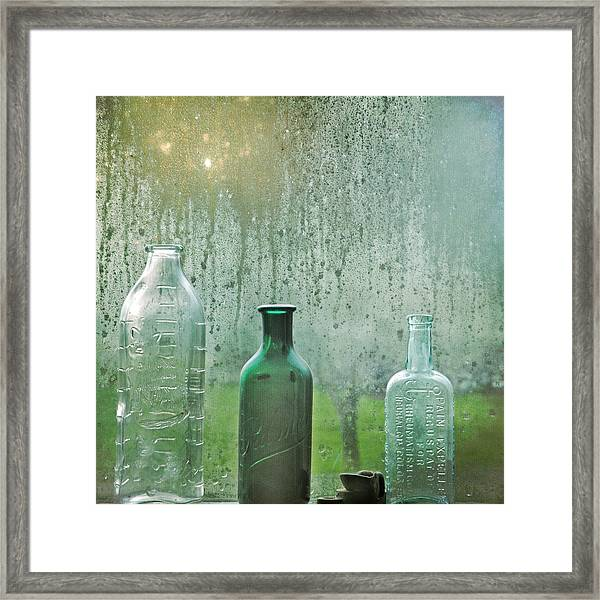 Three Bottles Framed Print