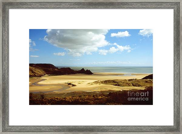 Three Cliffs Bay On The Gower Framed Print