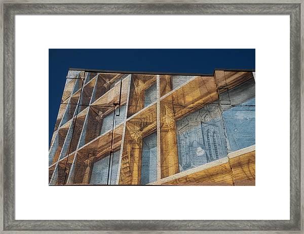 Three Dimensional Optical Illusions - Trompe L'oeil On A Brick Wall Framed Print