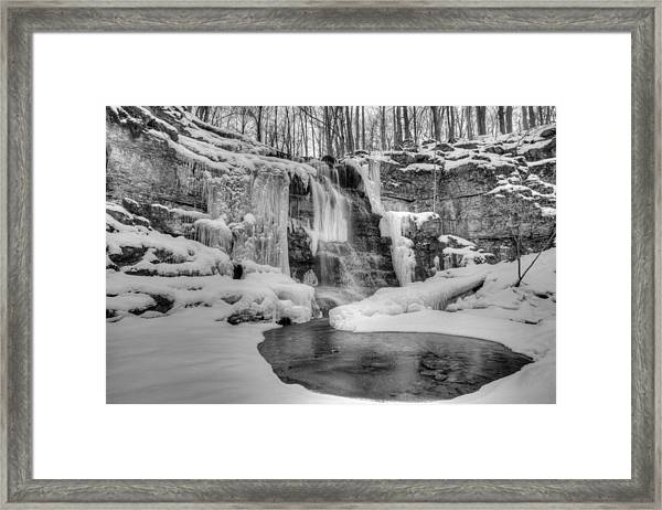 Three Falls Woods Framed Print