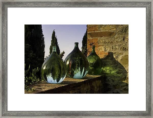 Three Flagons Framed Print