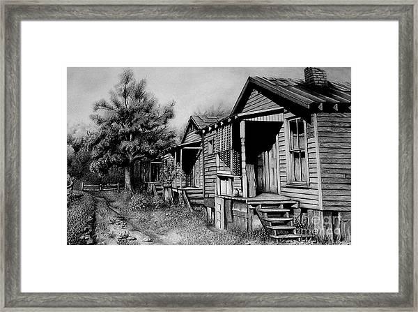 Three Graces Black And White Framed Print