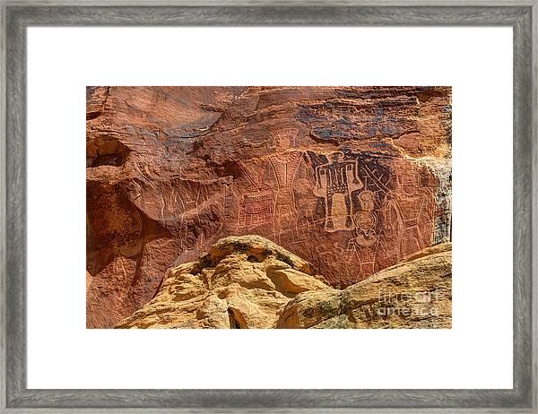 Three Kings Petroglyph - Mcconkie Ranch - Utah Framed Print