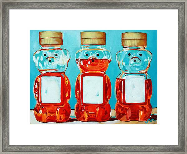 Three Little Bears Framed Print