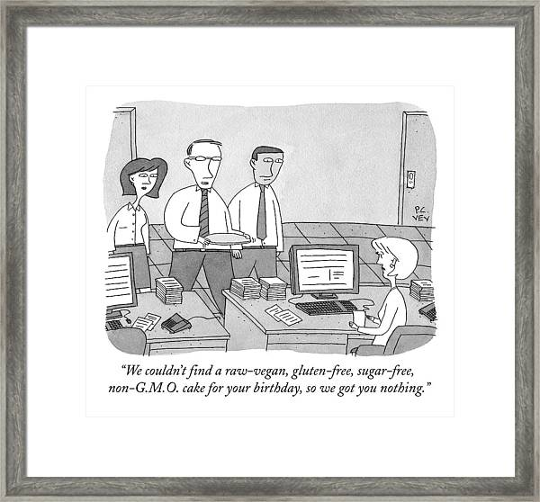 Three Office Workers Framed Print