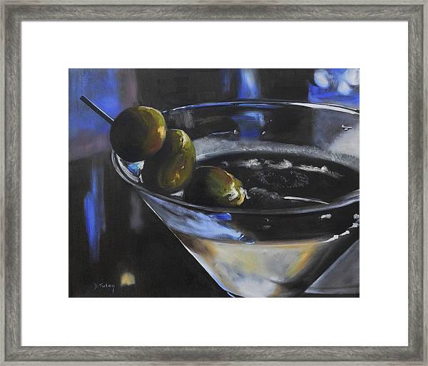 Three Olive Martini Framed Print