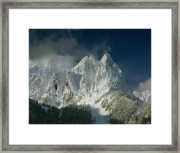1m4503-three Peaks Of Mt. Index Framed Print