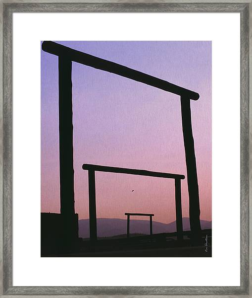 Three Ranch Gates Framed Print