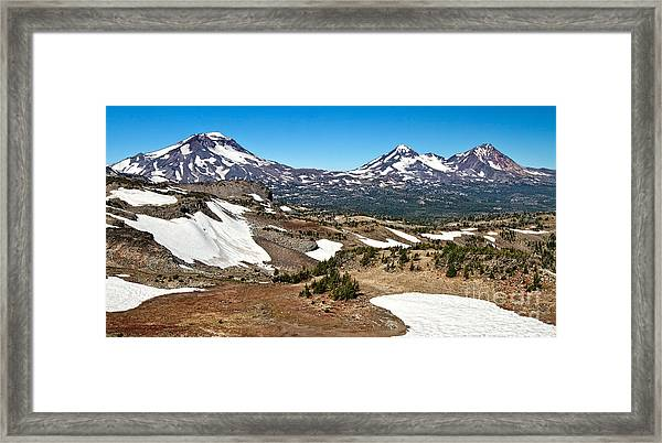 Three Sisters Panorama Framed Print