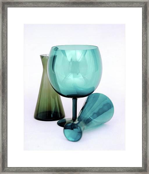 Three Venini Glasses Framed Print